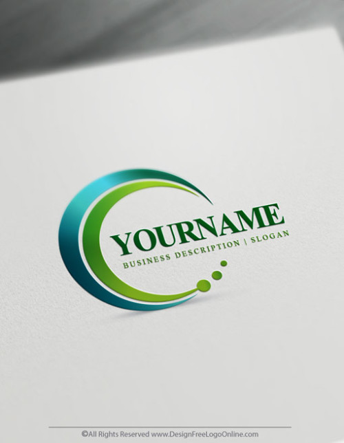 Green Simple Spiral Logo Maker