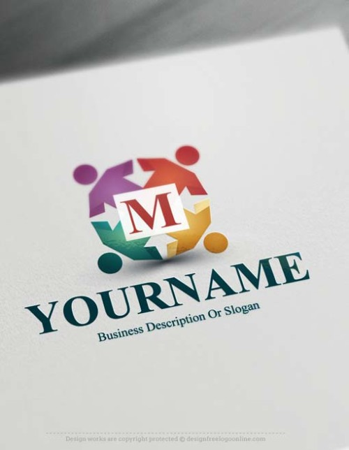human-group-logo-design-free-logomaker