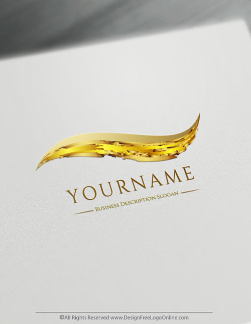luxury logo maker. Golden Color splash logo template