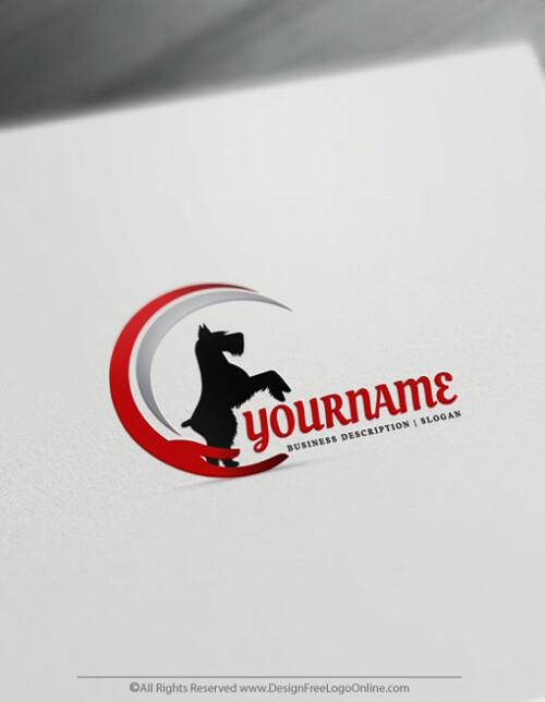 logo with dog image maker