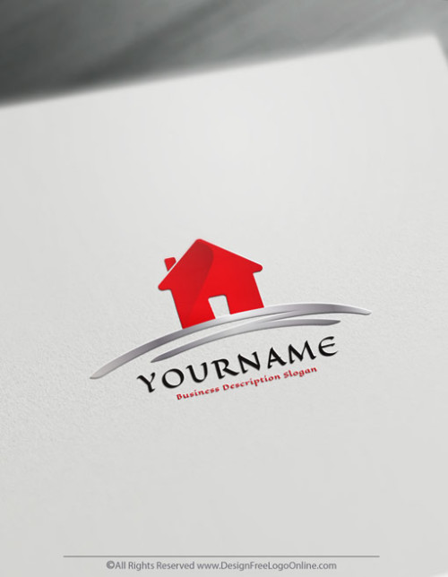 simple Logo with house image