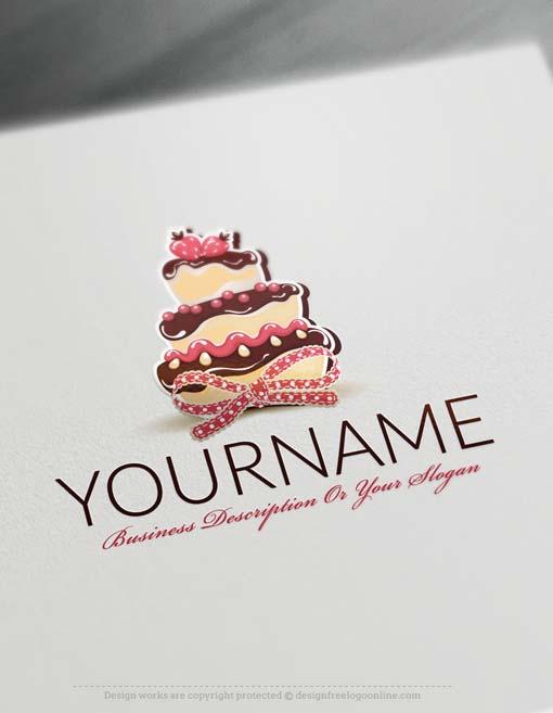 Cake Logo Design Psd : Free Logo Maker - Cake Logo Template
