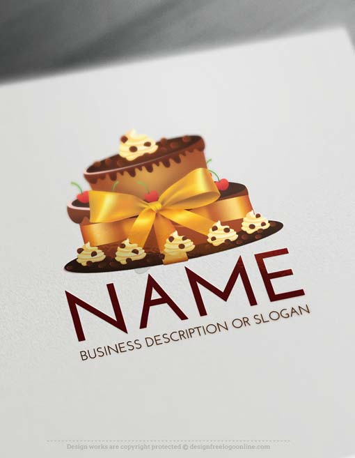 Free Logo Maker Cake Logos