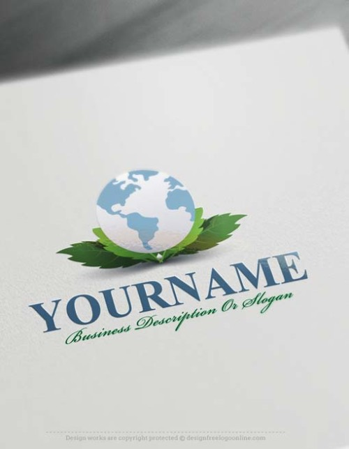 000571-Design-Free-green-globe-Logo-Template