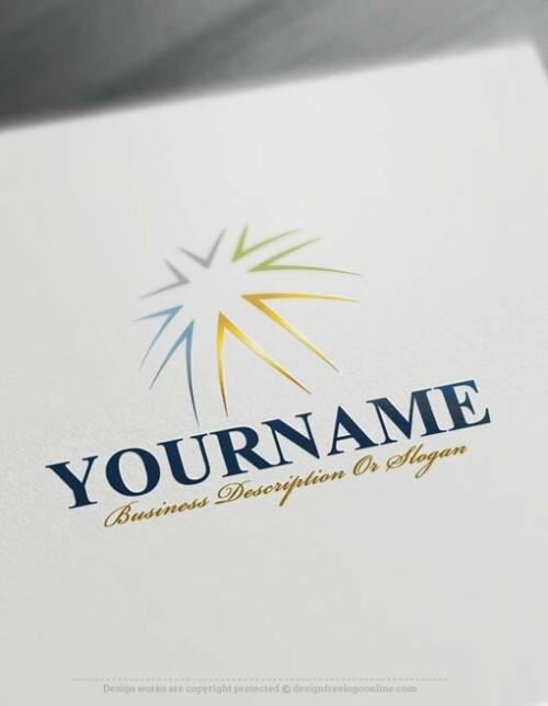 Free Logo maker - Amazing Online Star Logo Template