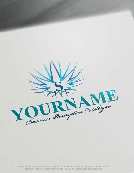 Create a logo Free - Free Logo Maker - Alphabet star Logo