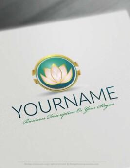 design a Logo Free - Lotus Flower Logo Templates