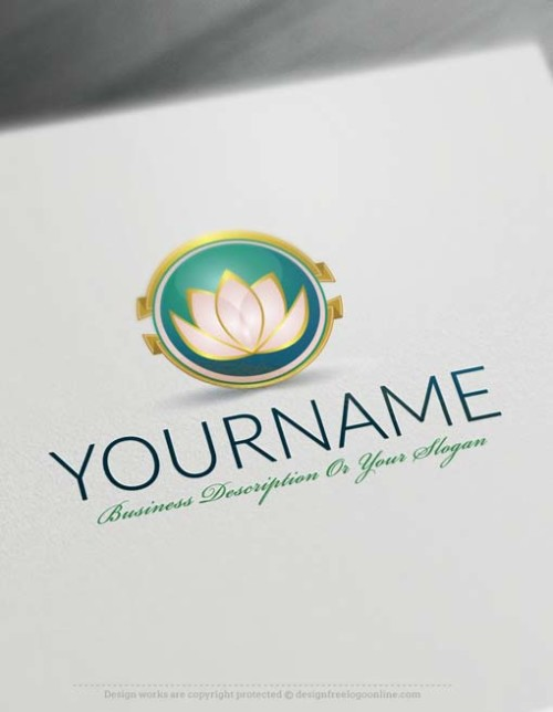 design a Logo Free - Lotus Flower Logo Templates
