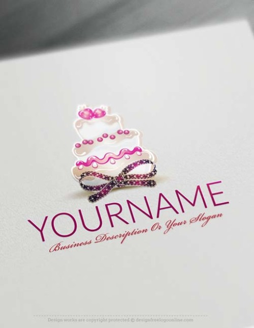 Create a wedding Cake Logo With the Logo maker