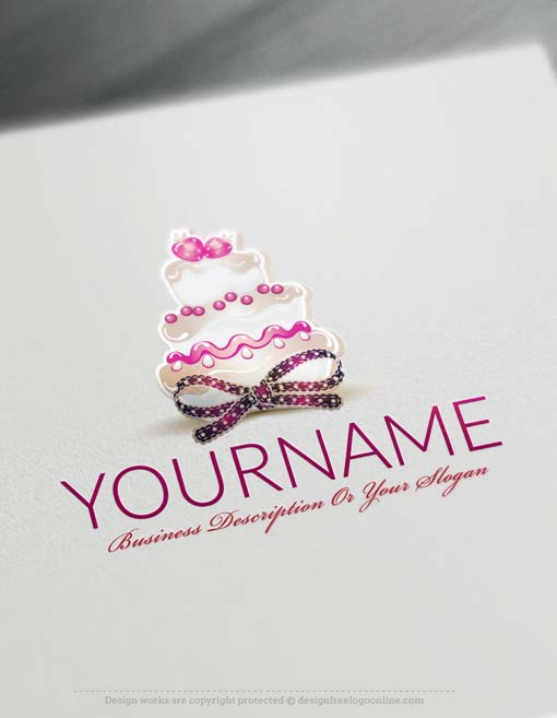 Template Wordpress Cake Design : Free Logo Maker - Cake Logo Template
