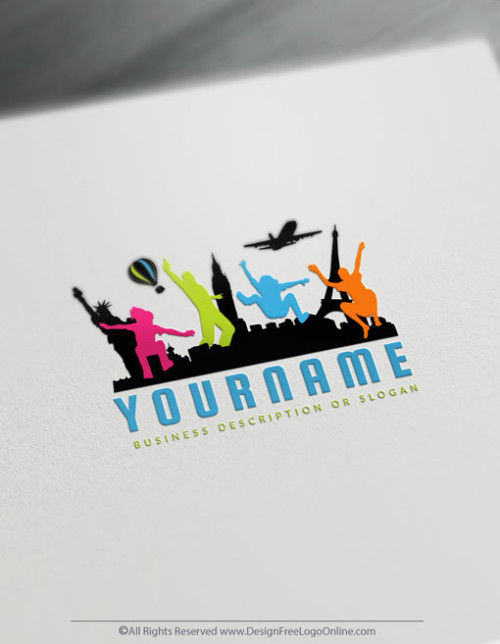 Free Travel Logo maker - USA Travel Agency Branding Designs