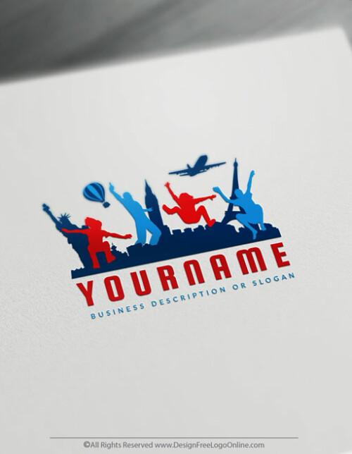 USA Travel Agency Branding Designs
