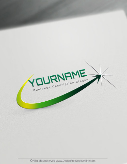 finance logo maker - green star Logo template