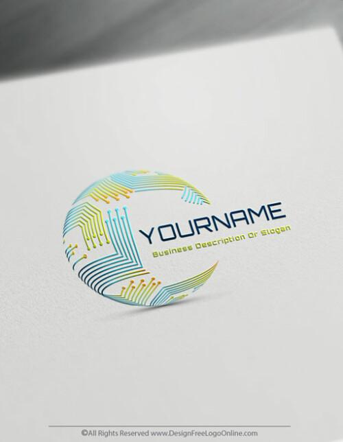 Create Digital Globe Logos For Free –Network Logo Template