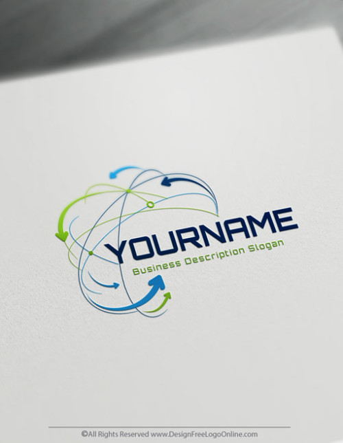 use the Technology Logo Creator for free to customize your own networks Logo design