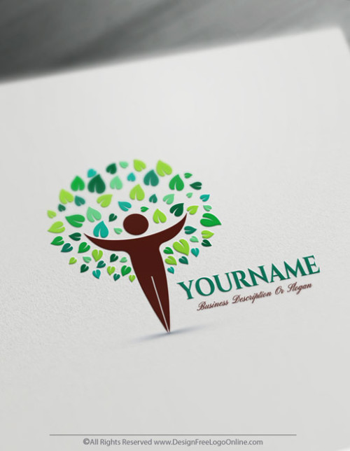 Human Tree Logo Design Maker
