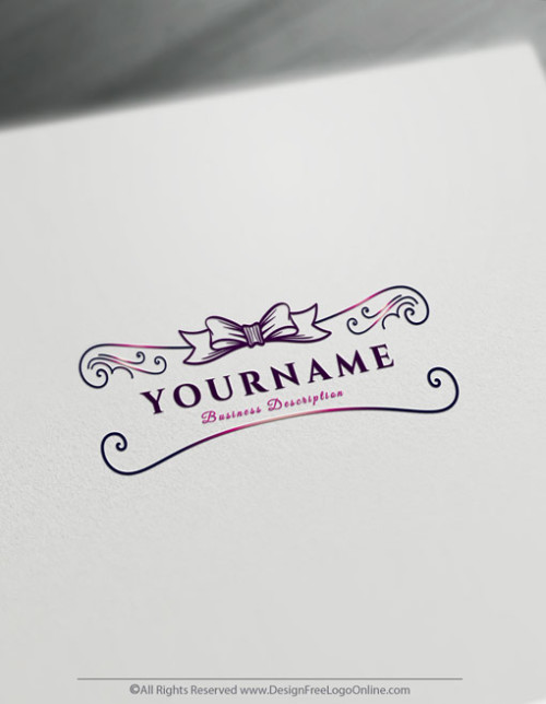Create a Ribbon Logo Free with the Hand Drawn Gift Logo Template