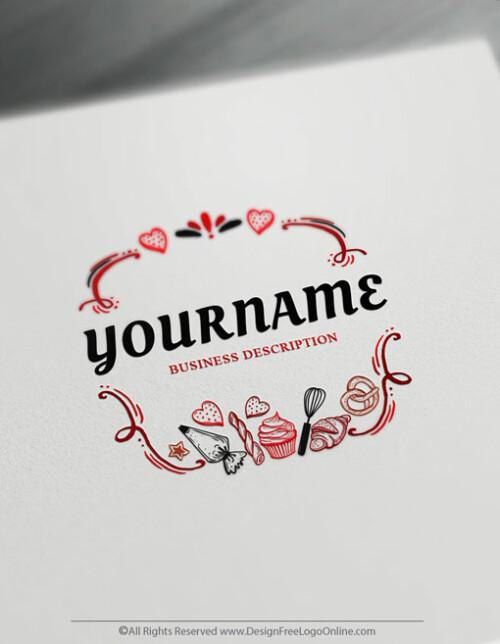 Online Bakery logo making