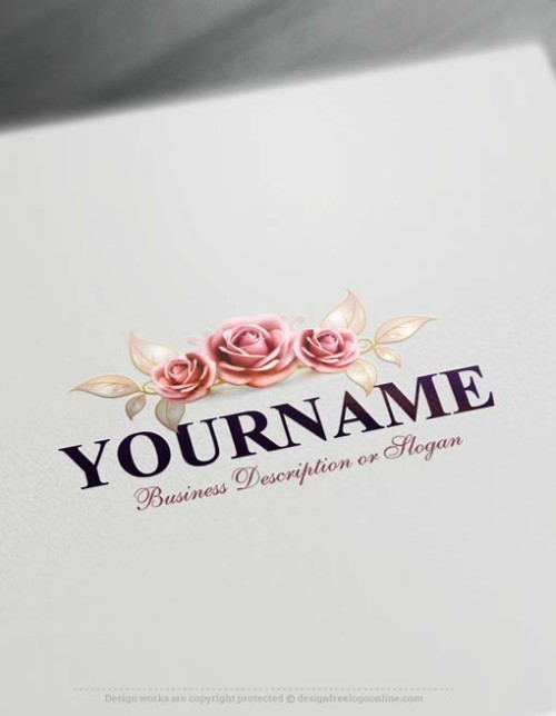 create your own Beautiful roses Logo Design Online