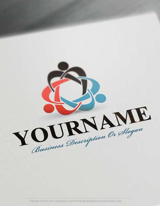 Make your own people group logo with the best free logo maker for Draw your own logo free