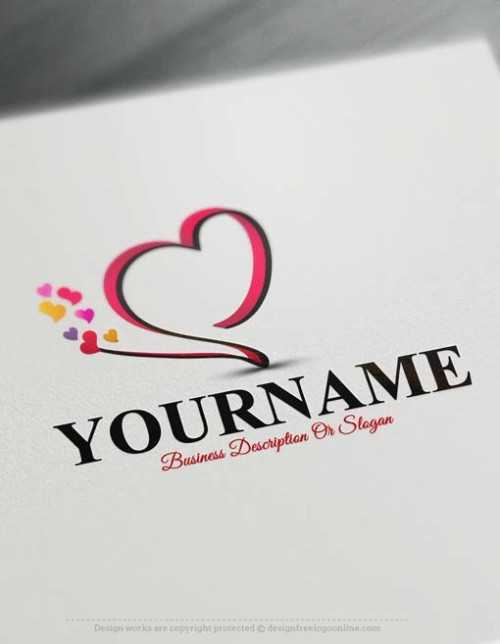 Design a logo online using Heart Logo Template.