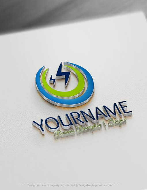 Free logo maker - Electrician Logo template Lightning Logo Design