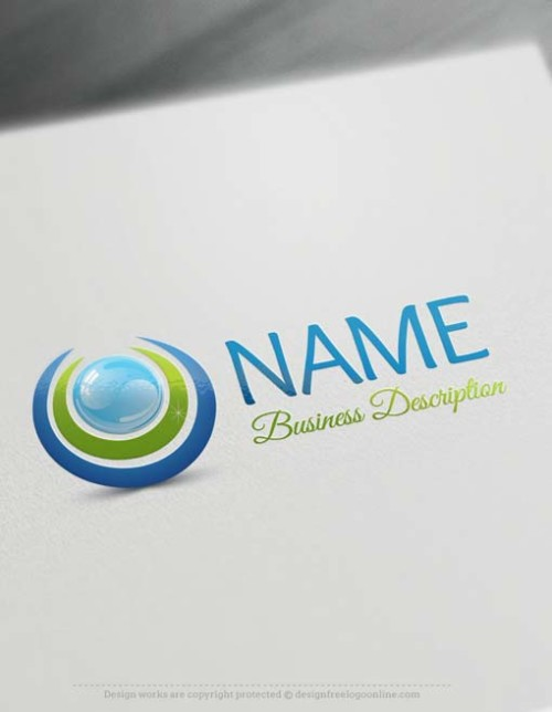 Free logo maker - Clean water logo template customize free