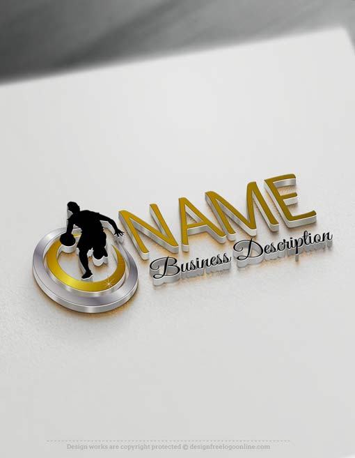 Easily customize this Basketball logo template brand yourself with our free logo maker. Make your own logo designs