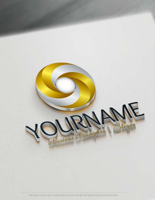 Free Logo maker - 3D Spiral Logo design