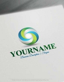 Brand your business easily with 3D Spiral Logo template and the best logos designer