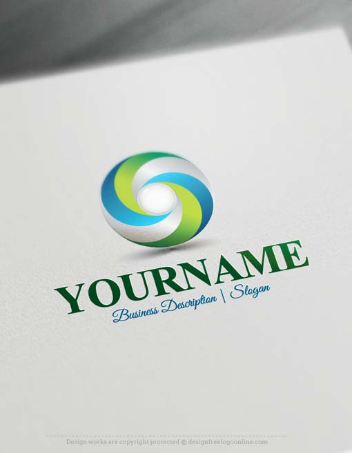 Brand Your Business Easily With 3d Spiral Logo Template