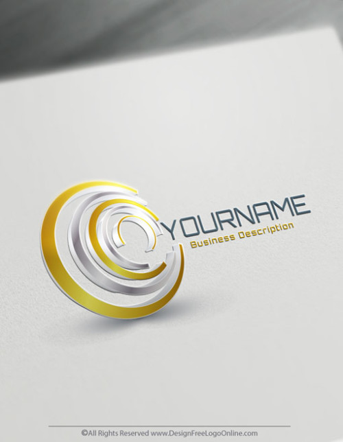 Brand Your Business Online with 3D Spiral Logo Design.