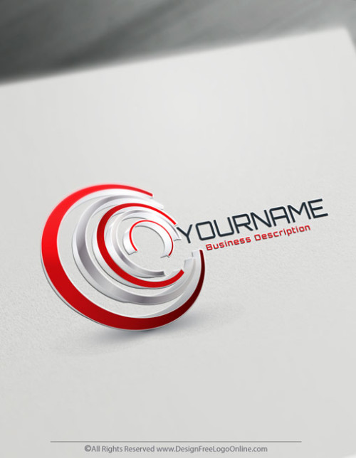 Brand Your Business Online with 3D Red Spiral Logo Design.