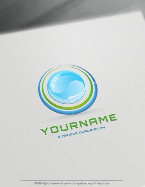 Eco green water logo maker