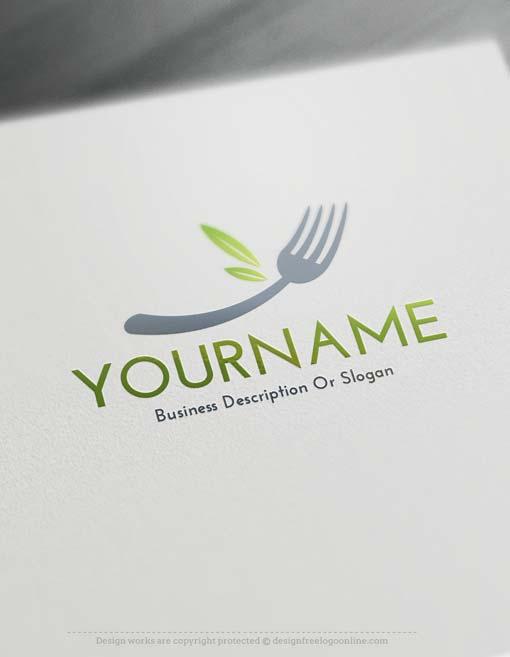 Free-fork-Logo-template