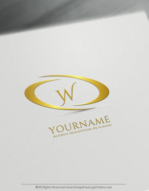 Create Infinity Abstract Logo with the Free Gold Letter Logo Maker