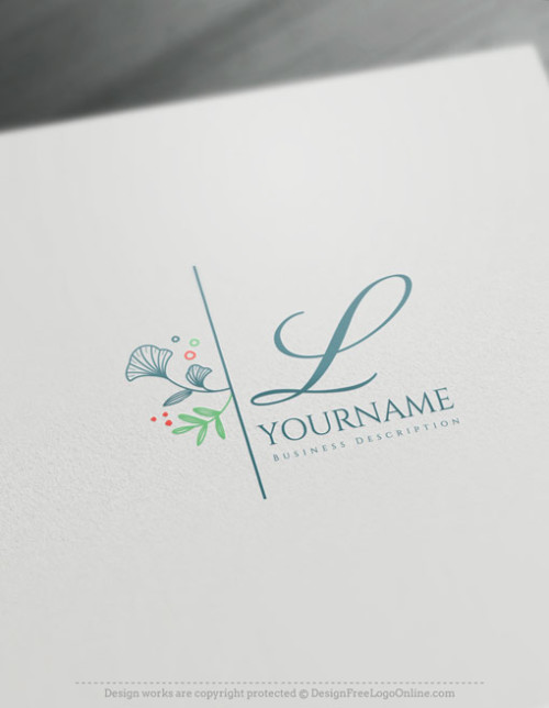 Free Minimalist Logo Maker - Beautiful Leaf Logo Template