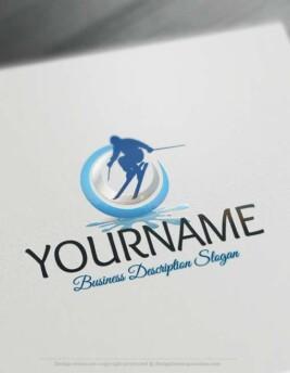 Skiing-Logo-design-free-logos