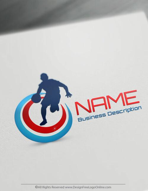 Free sports logo maker - USA Basketball logo template brand