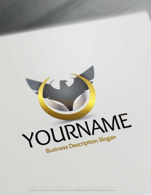 Free logo maker eagle logo template for Design online
