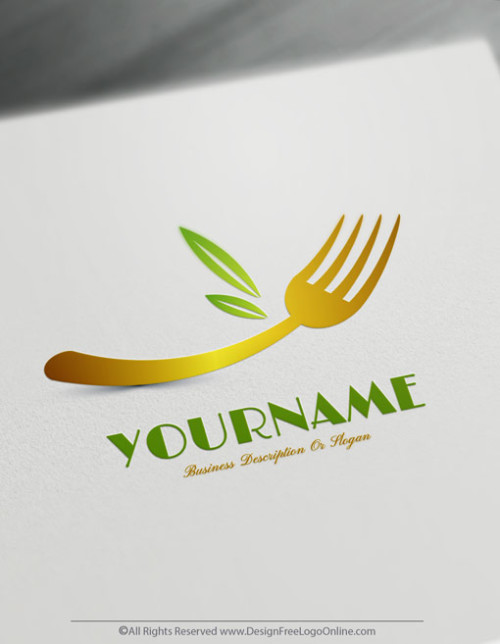 food logo vegetarian logo maker