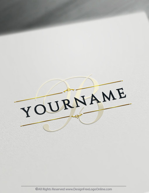 Make your own Gold Alphabet Vintage Logo Online