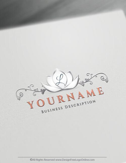 wedding Alphabet Lotus Logo maker