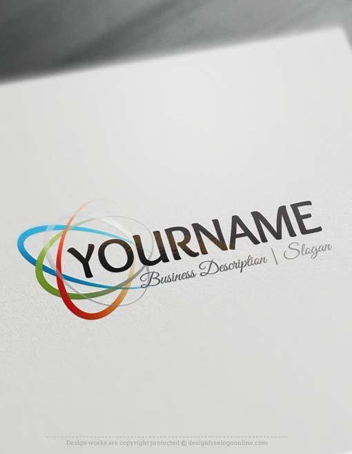 Free logo maker lines logo template reheart Gallery