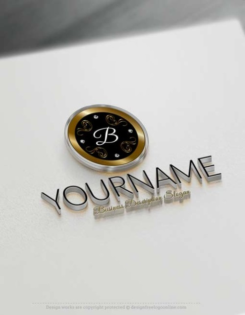 Free Logo maker - Online Luxurious frame Logo design