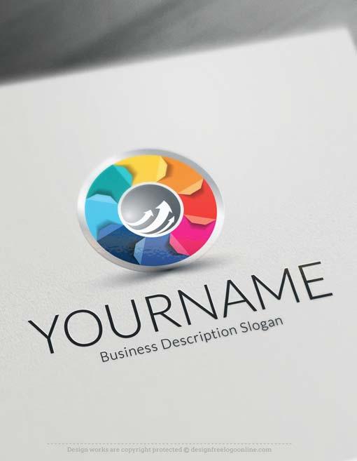 Free logo maker 3d arrow logo design for Logo 3d online