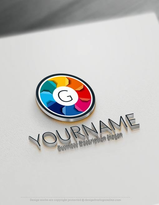 Free logo maker 3d alphabets logo maker for Make 3d design online