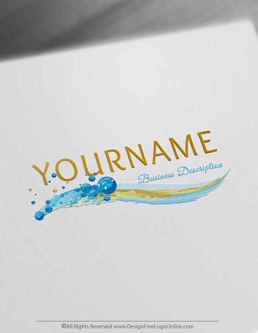 Golden waves for cosmetics logos
