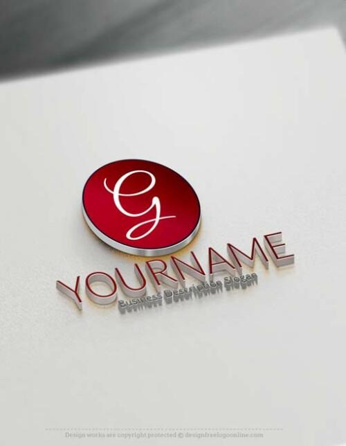 Free Logo Maker - Simple round logo