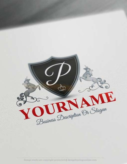 Stylish Unicorn Logo Design with our free logo maker